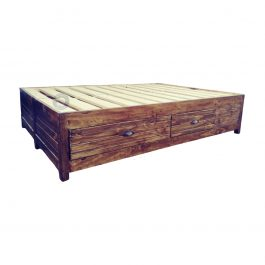Three Quarter Storage Bed Base with drawers