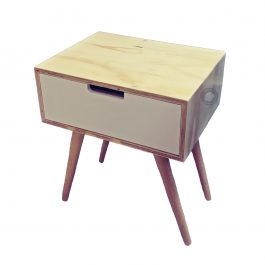 "Bed Side Table – 1 Draw ""Retro"""