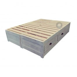 Double Storage Bed Base with drawers