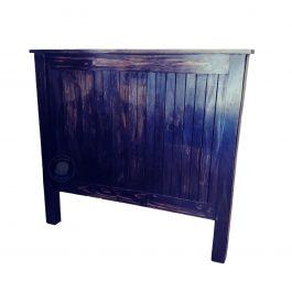 Wooden headboard board black antique