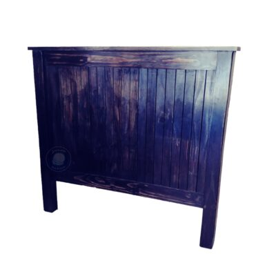 Wooden headboard board black antique