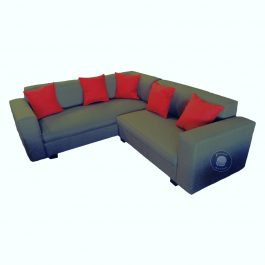 Corner Couch with scatter cushions – Grey
