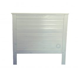 """Double Wooden Headboard – White Antique """"Lodge"""""""