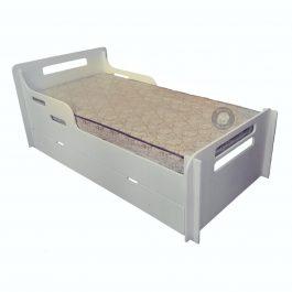 Alex Single Bed with Under Bed Storage – White