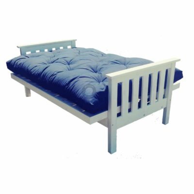 wooden fold out sleeper couch with futon mattress