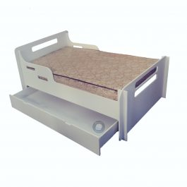 Alex Single Bed with Under Bed Storage – White