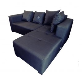 Daybed Corner Couch with scatter cushions – Grey