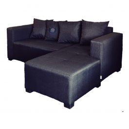 Daybed Corner Couch with scatter cushions – Black