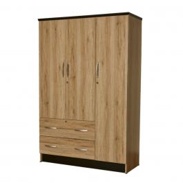 Wardrobe 3 Door – Oak