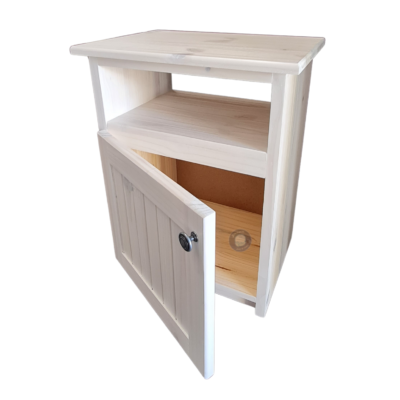 white wooden pedestal