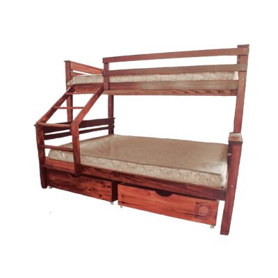 bunk single over double bed