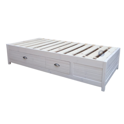 storage bed base white