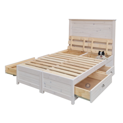drawer bed white open