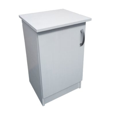 product image white bed side table