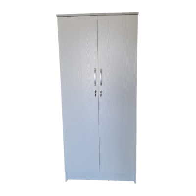 white 2 door cupboard