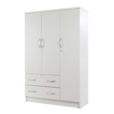 3 door cupboard white