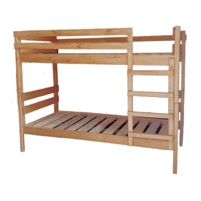 pine double bunk bed light oak