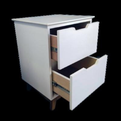 2 drawer pedestal white