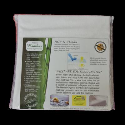 Natural Organic bamboo terry waterproof mattress protector