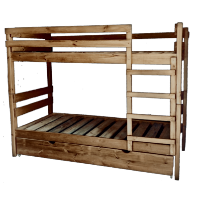 wooden double bunk with underbed