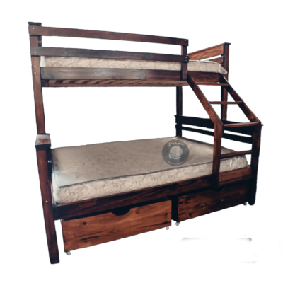wooden bunk single over double