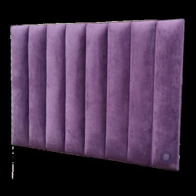 headboard Upholstered step panel purple